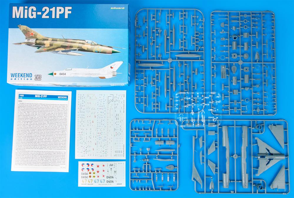 MiG-21PFプラモデル(エデュアルド1/72 ウィークエンド エディションNo.7455)商品画像_1