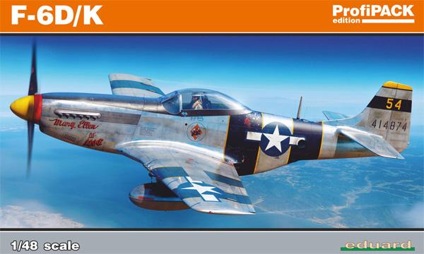 ノースアメリカン F-6D/K マスタングプラモデル(エデュアルド1/48 プロフィパックNo.82103)商品画像