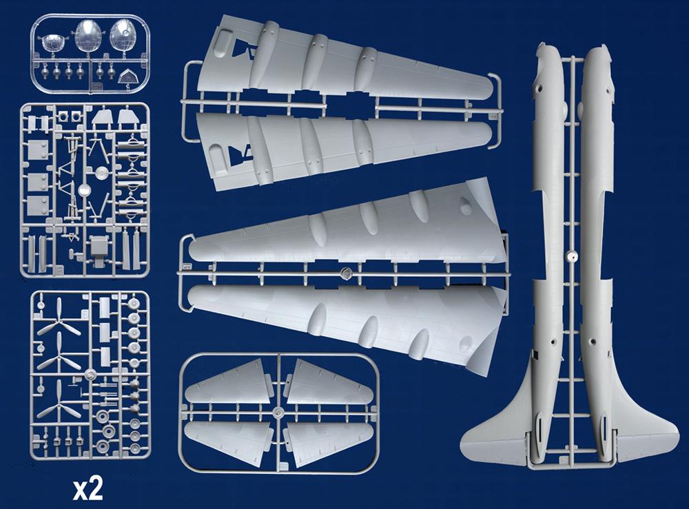 コンベア B-36B ピースメーカー 戦略爆撃機プラモデル(ローデン1/144 エアクラフトNo.347)商品画像_1
