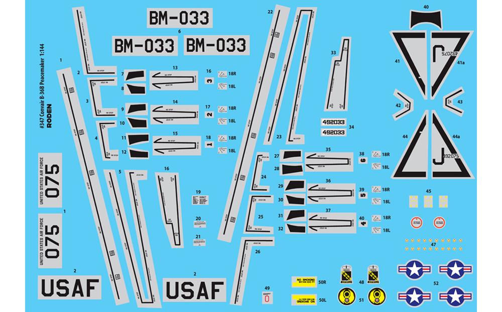 コンベア B-36B ピースメーカー 戦略爆撃機プラモデル(ローデン1/144 エアクラフトNo.347)商品画像_2