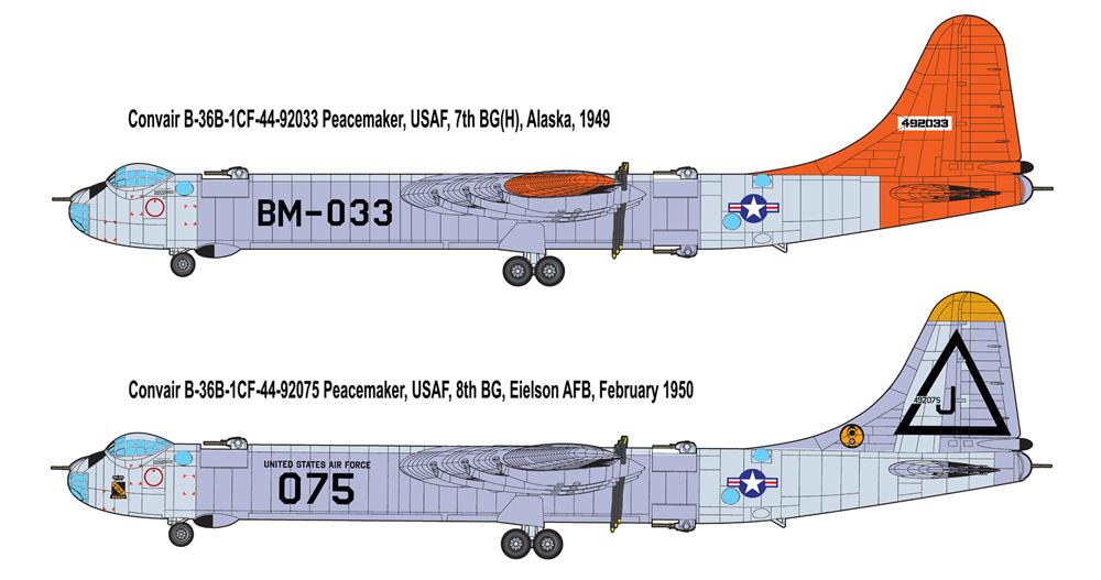 コンベア B-36B ピースメーカー 戦略爆撃機プラモデル(ローデン1/144 エアクラフトNo.347)商品画像_3