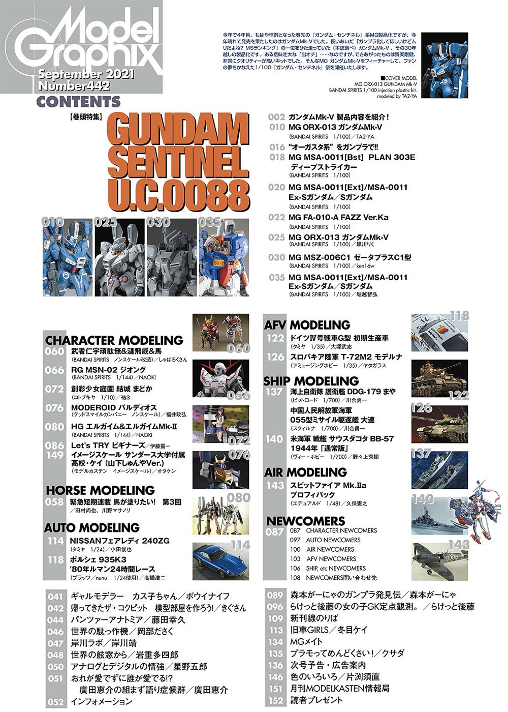 モデルグラフィックス 2021年9月号雑誌(大日本絵画月刊 モデルグラフィックスNo.442)商品画像_1