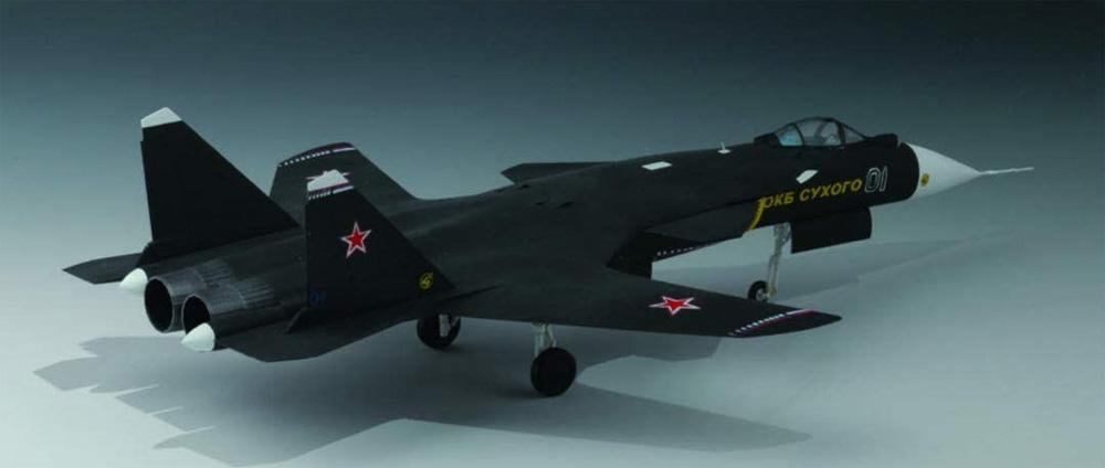 ロシア空軍 Su-47(S-37) ベルクートプラモデル(童友社1/72 飛行機No.72-SU47-3000)商品画像_3