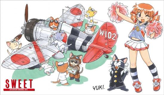 九六艦戦 空戦訓練特別塗装プラモデル(SWEET1/144スケールキットNo.044)商品画像