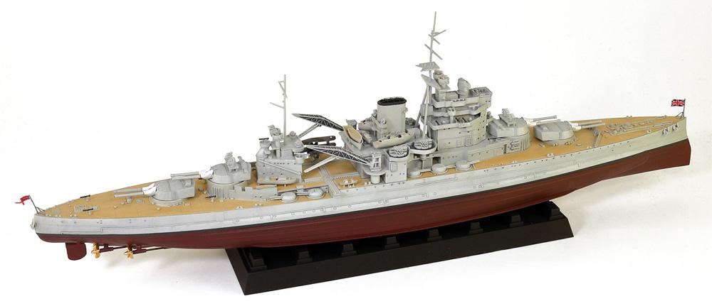英国海軍 クイーン・エリザベス級戦艦 ヴァリアント 1939 旗・艦名プレート エッチングパーツ付き 限定版プラモデル(ピットロード1/700 スカイウェーブ W シリーズNo.W188NH)商品画像_2