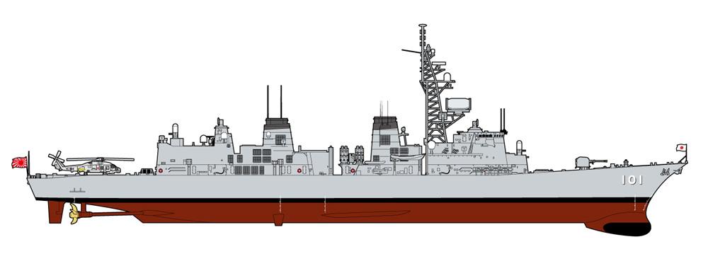海上自衛隊 護衛艦 DD-101 むらさめ 自衛官 長門佳乃 准海尉 下総マリンブルー フィギュア付き限定版プラモデル(ピットロード1/700 スカイウェーブ J シリーズNo.J061F)商品画像_1