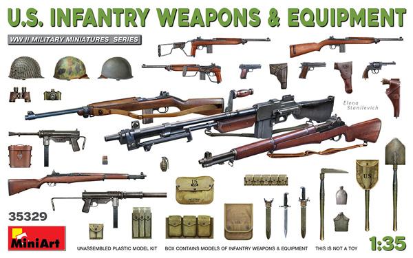 アメリカ軍 歩兵用武器 & 装備品セットプラモデル(ミニアート1/35 WW2 ミリタリーミニチュアNo.35329)商品画像