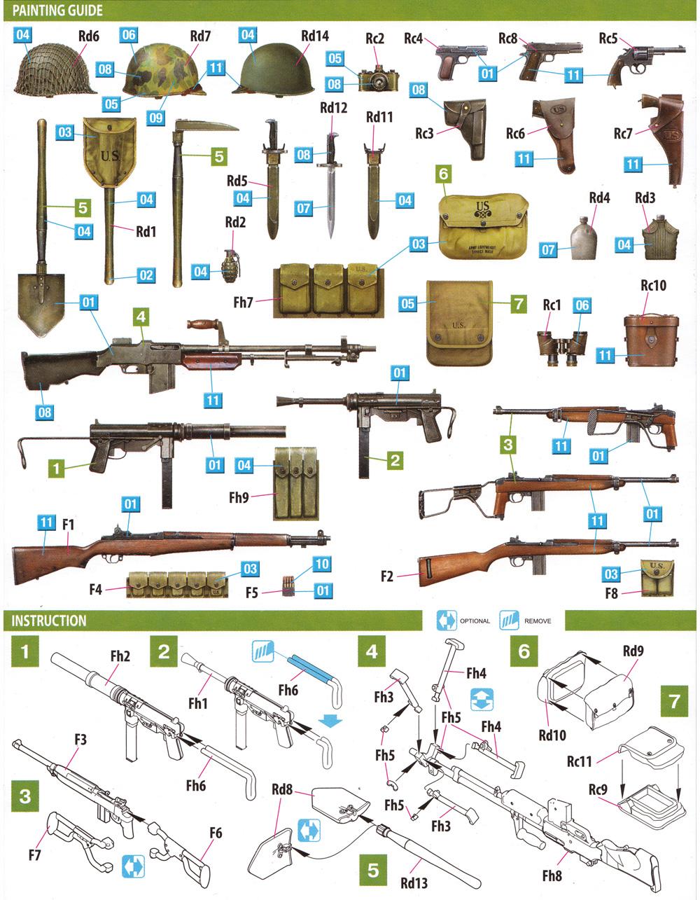 アメリカ軍 歩兵用武器 & 装備品セットプラモデル(ミニアート1/35 WW2 ミリタリーミニチュアNo.35329)商品画像_1