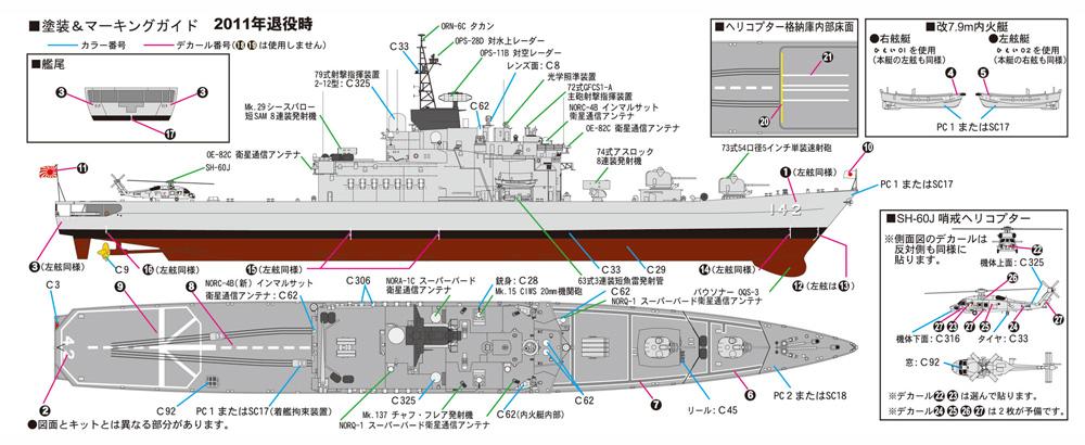 海上自衛隊 護衛艦 DDH-142 ひえい エッチングパーツ付プラモデル(ピットロード1/700 スカイウェーブ J シリーズNo.J081E)商品画像_1
