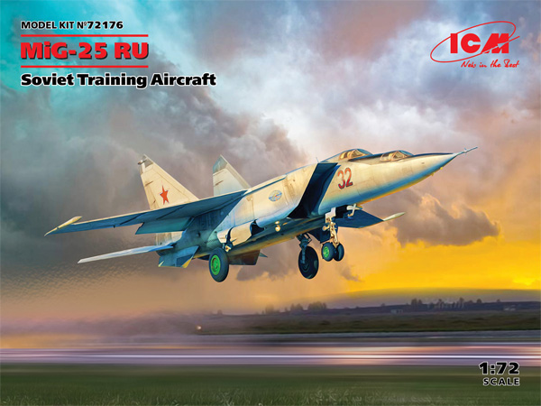 MiG-25RU 複座偵察機プラモデル(ICM1/72 エアクラフト プラモデルNo.72176)商品画像