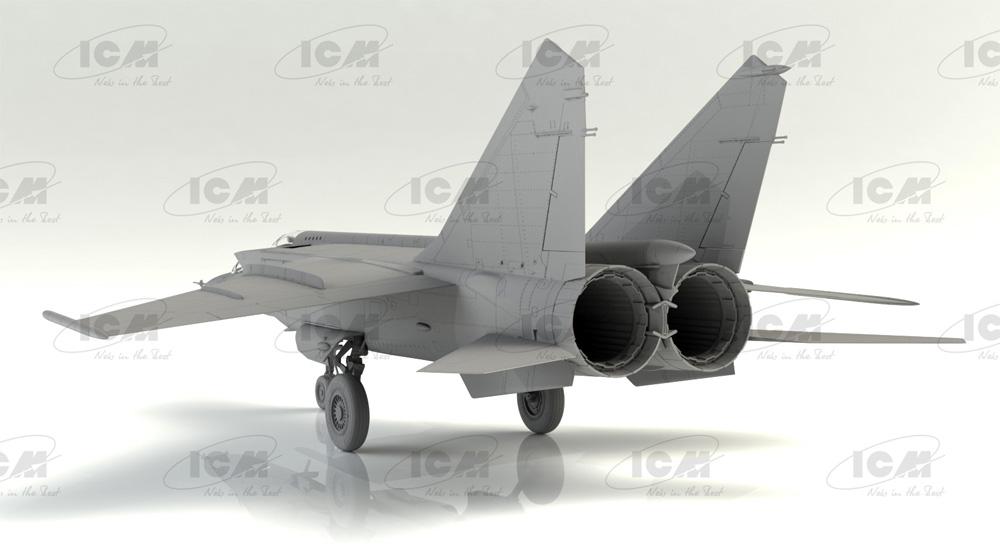 MiG-25RU 複座偵察機プラモデル(ICM1/72 エアクラフト プラモデルNo.72176)商品画像_2