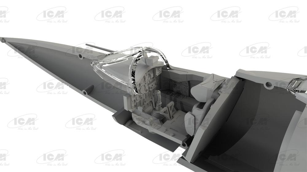 MiG-25RU 複座偵察機プラモデル(ICM1/72 エアクラフト プラモデルNo.72176)商品画像_3