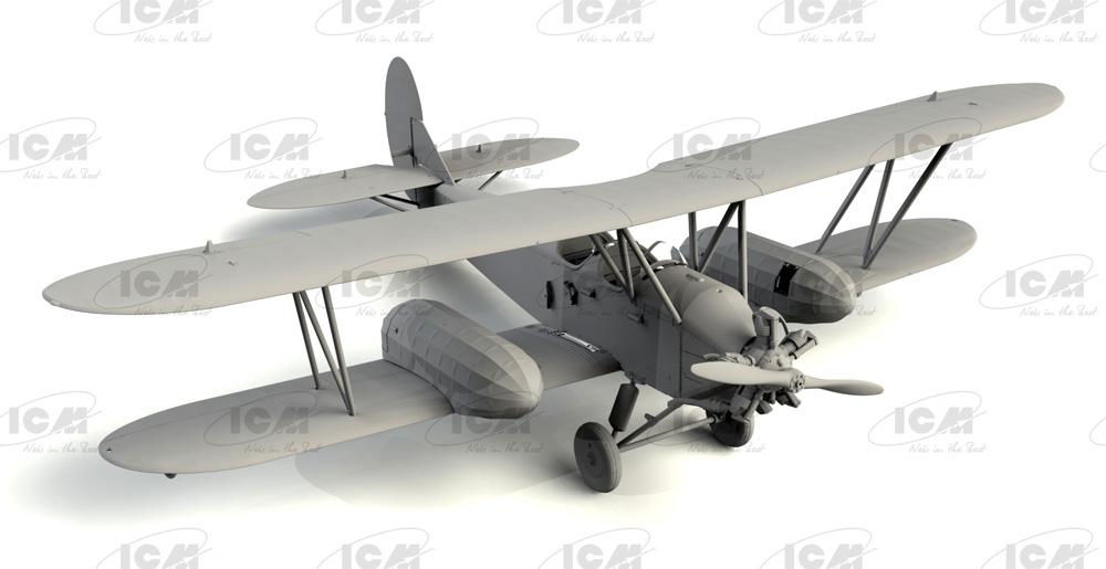 ポリカルポフ U-2/Po-2 多目的機プラモデル(ICM1/72 エアクラフト プラモデルNo.72244)商品画像_1