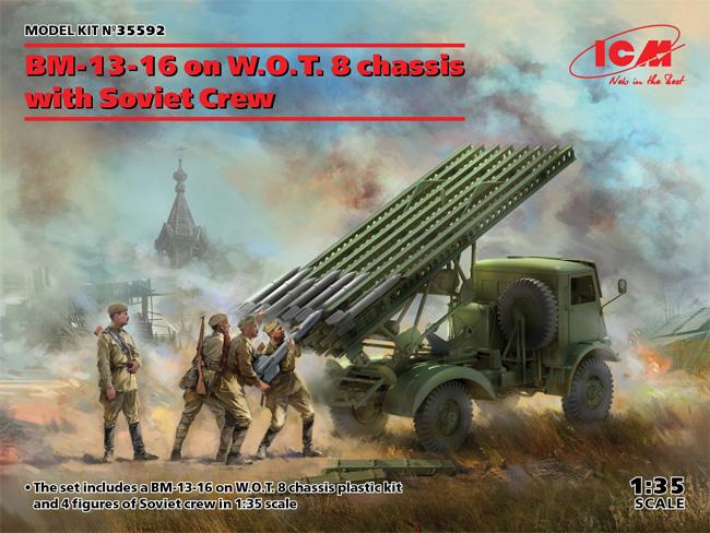 ソビエト BM-13-16 多連装ロケットランチャー W.O.T8車体 w/クループラモデル(ICM1/35 ミリタリービークル・フィギュアNo.35592)商品画像