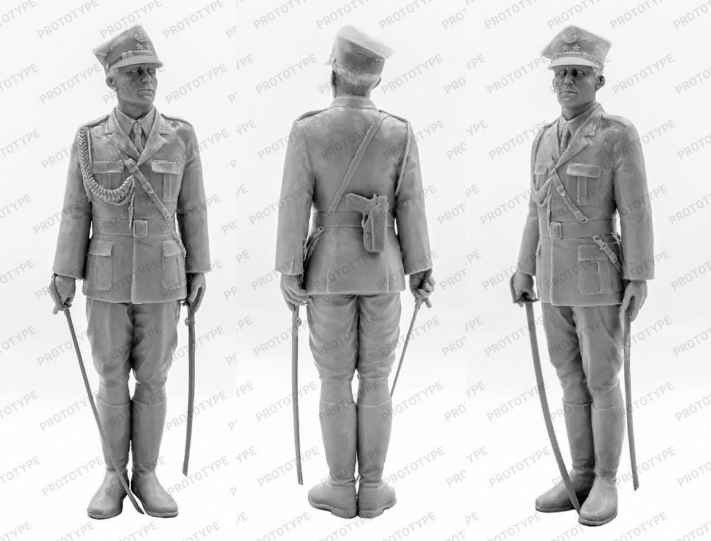 ポーランド 儀仗隊将校プラモデル(ICM1/16 ワールドガードNo.16010)商品画像_1