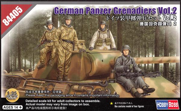 ドイツ 装甲擲弾兵セット Vol.2プラモデル(ホビーボス1/35 ファイティングビークル シリーズNo.84405)商品画像