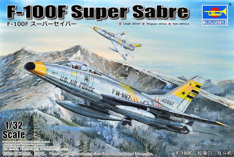 F-100F スーパーセイバープラモデル(トランペッター1/32 エアクラフトシリーズNo.02246)商品画像