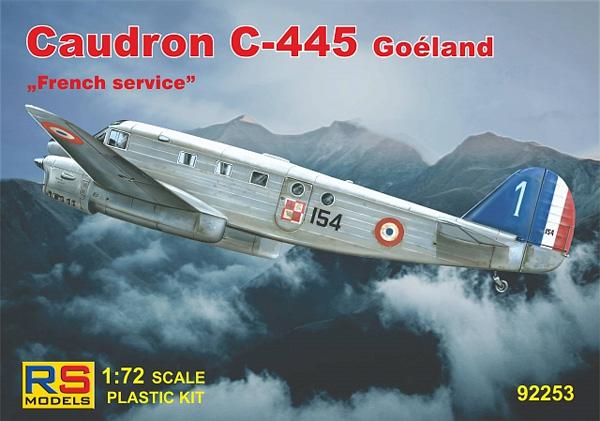 コードロン C-445 ゴエラン フランス 1940プラモデル(RSモデル1/72 エアクラフト プラモデルNo.92253)商品画像