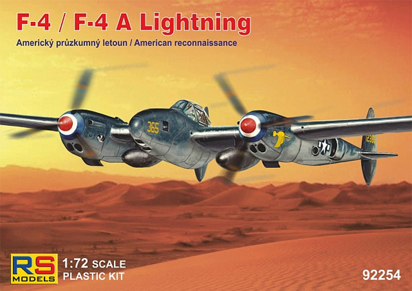 F-4/F-4A ライトニング アルジェリア 1943プラモデル(RSモデル1/72 エアクラフト プラモデルNo.92254)商品画像