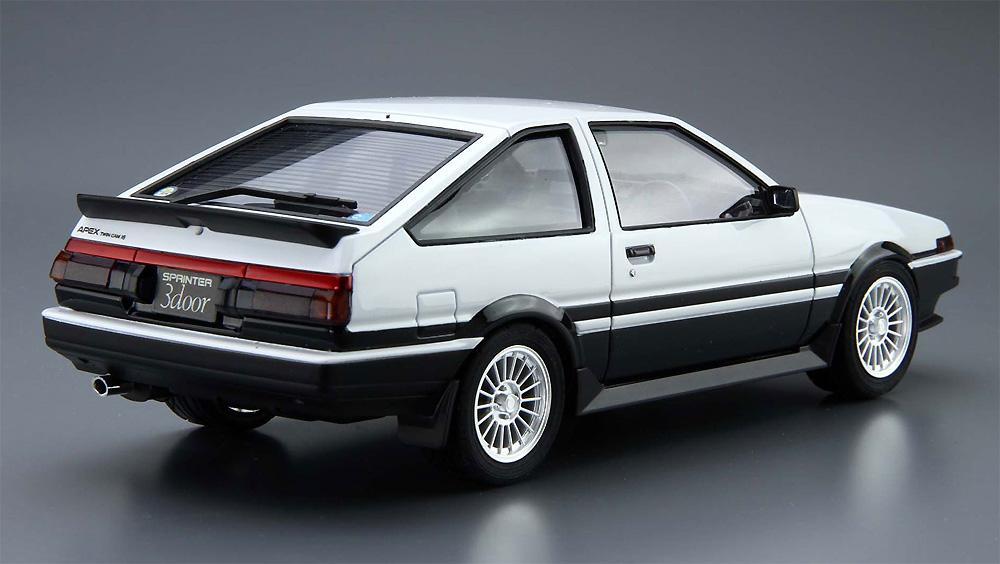 トヨタ AE86 スプリンター トレノ GT-APEX '85プラモデル(アオシマ1/24 ザ・モデルカーNo.005)商品画像_3