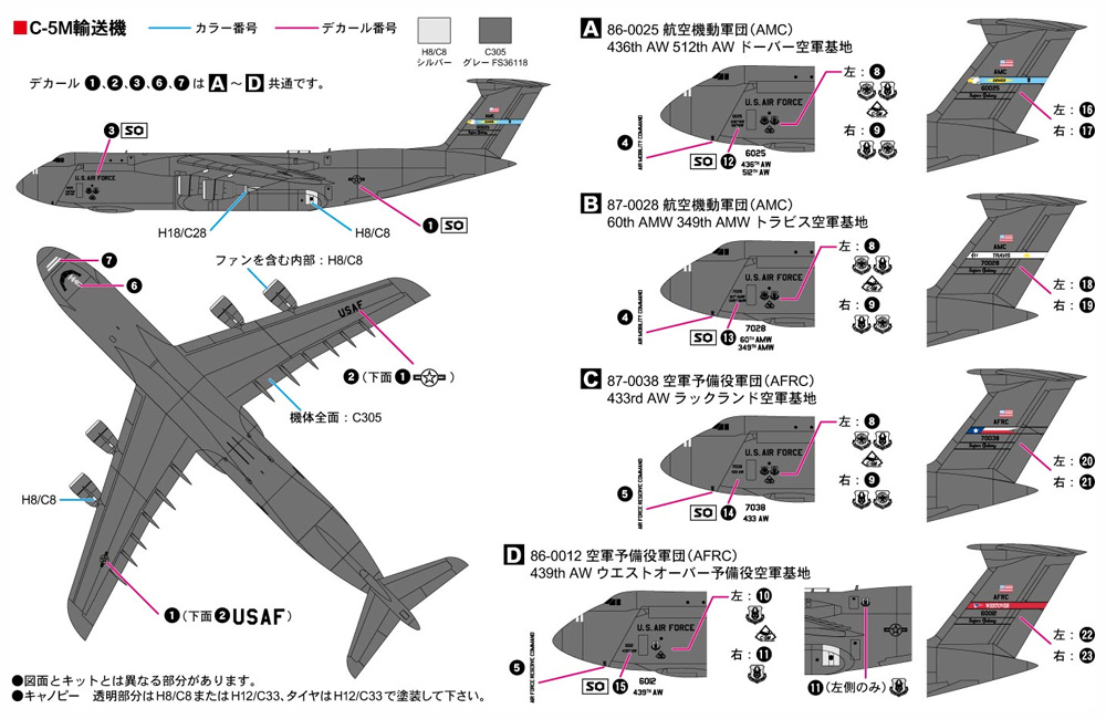 アメリカ空軍機セット 3プラモデル(ピットロードスカイウェーブ S シリーズNo.S055)商品画像_1