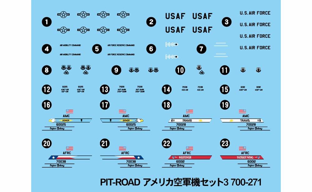 アメリカ空軍機セット 3プラモデル(ピットロードスカイウェーブ S シリーズNo.S055)商品画像_2