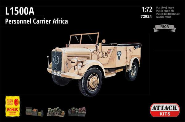L1500A 兵員輸送車 北アフリカプラモデル(アタック1/72 AFV シリーズNo.72924)商品画像