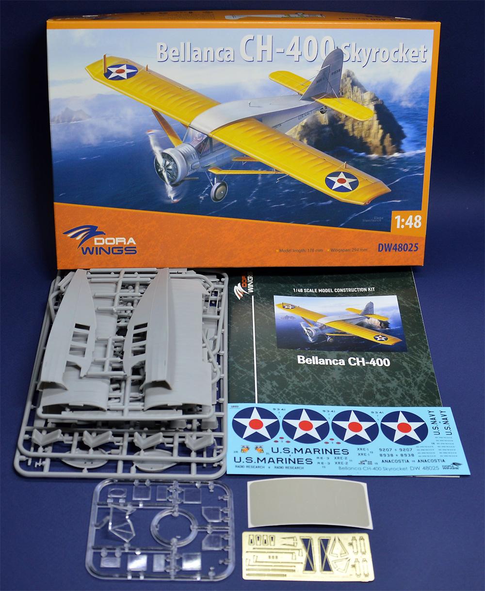 べランカ CH-400 スカイロケットプラモデル(ドラ ウイングス1/48 エアクラフト プラモデルNo.DW48025)商品画像_1