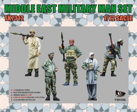 中東兵士セットプラモデル(ティーモデル1/72 ミリタリー プラモデルNo.TK7312)商品画像
