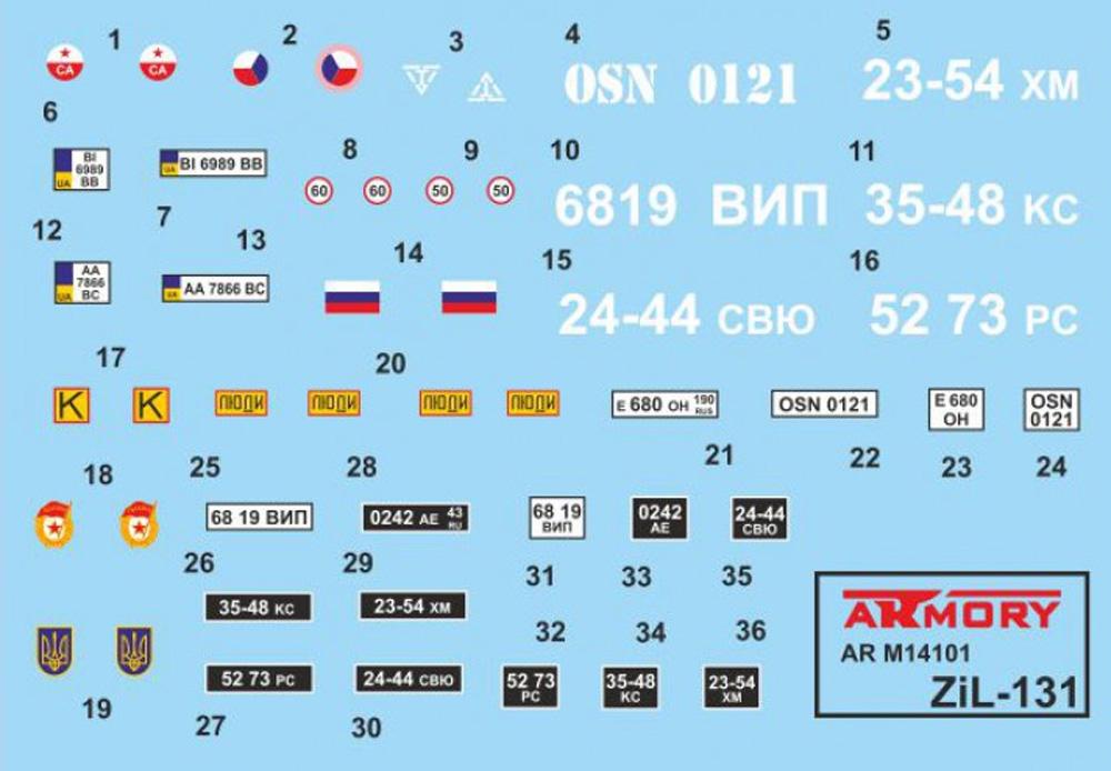 ZiL-131 ソビエト カーゴトラックプラモデル(ARMORY1/144 ミリタリーNo.AR M14801)商品画像_2