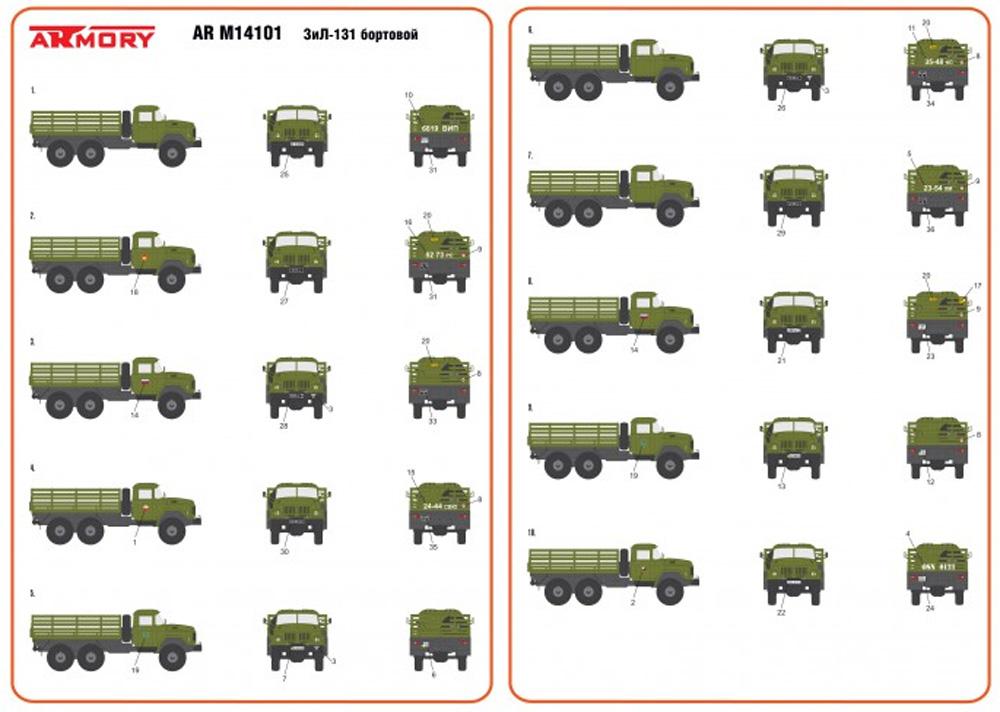ZiL-131 ソビエト カーゴトラックプラモデル(ARMORY1/144 ミリタリーNo.AR M14801)商品画像_4