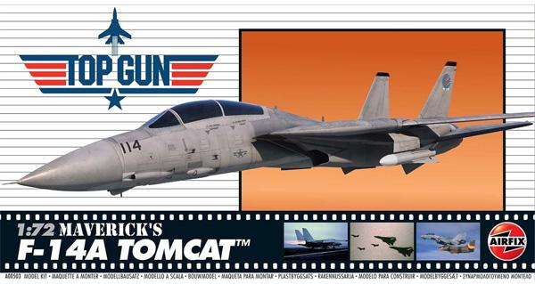 F-14A トムキャット マーヴェリック機 TOP GUNプラモデル(エアフィックス1/72 ミリタリーエアクラフトNo.A00503)商品画像