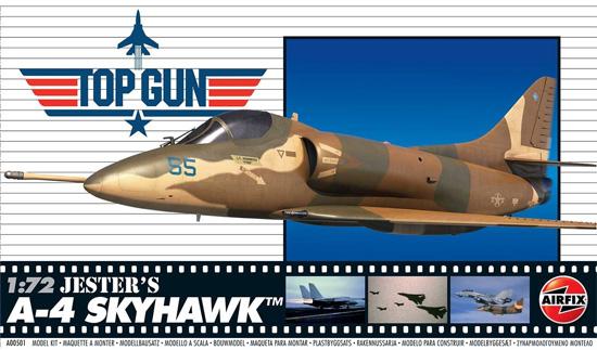 A-4 スカイホーク ジェスター機 TOP GUNプラモデル(エアフィックス1/72 ミリタリーエアクラフトNo.A00501)商品画像