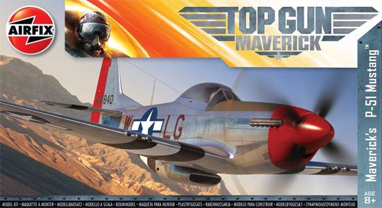 P-51 マスタング TOP GUN マーヴェリック機プラモデル(エアフィックス1/72 ミリタリーエアクラフトNo.A00505)商品画像
