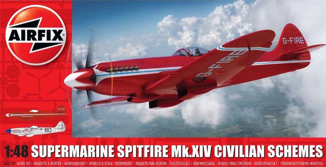スーパーマリーン スピットファイア Mk.14 民間仕様プラモデル(エアフィックス1/48 ミリタリーエアクラフトNo.A05139)商品画像