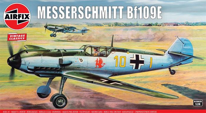 メッサーシュミット Bf109Eプラモデル(エアフィックス1/24 ミリタリーエアクラフトNo.A12002V)商品画像