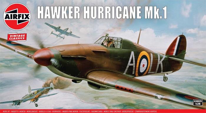 ホーカー ハリケーン Mk.1プラモデル(エアフィックス1/24 ミリタリーエアクラフトNo.A14002V)商品画像
