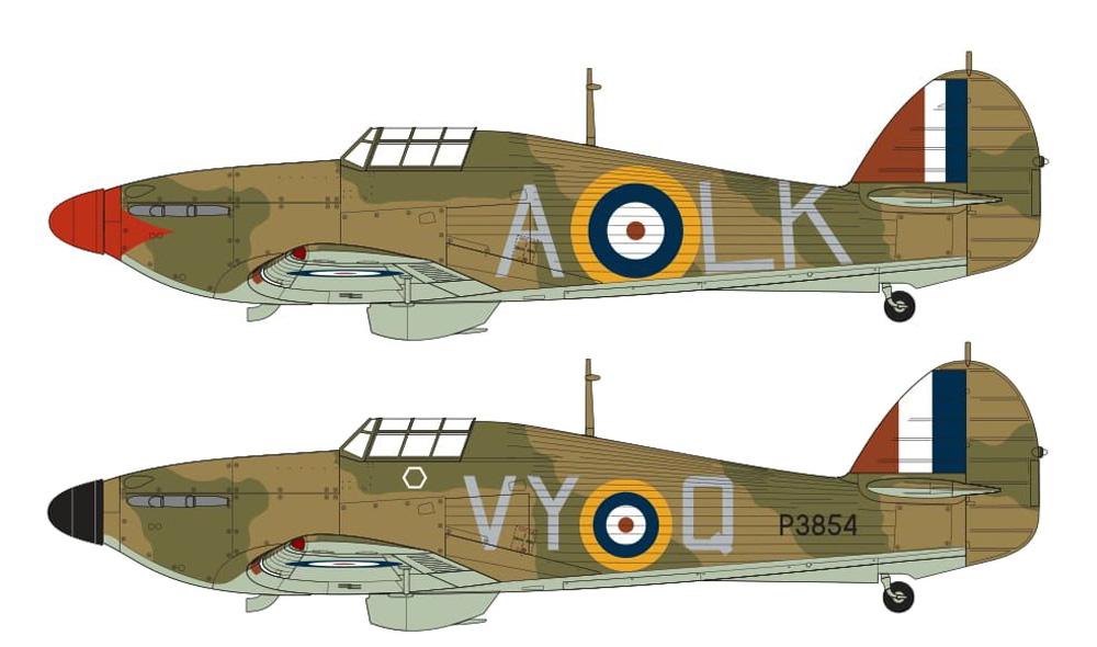 ホーカー ハリケーン Mk.1プラモデル(エアフィックス1/24 ミリタリーエアクラフトNo.A14002V)商品画像_1
