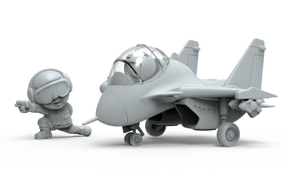 中国海軍 J-15 フライングシャーク 艦載機プラモデル(MENG-MODELMENG KIDSNo.mPLANE-008)商品画像_1