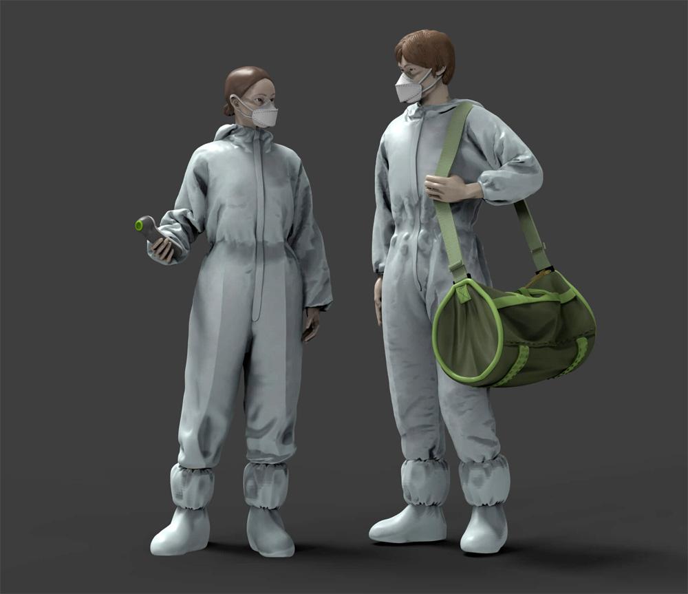 新型ウィルスと戦うヒーローズ 1 打合せ (2体入)プラモデル(トリファクトリーMILITARY FIGURE SERIESNo.MF-015)商品画像_3