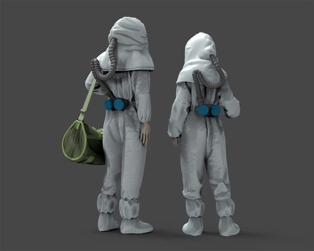 新型ウィルスと戦うヒーローズ 1 打合せ (2体入)プラモデル(トリファクトリーMILITARY FIGURE SERIESNo.MF-015)商品画像_4