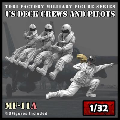 現用 アメリカ海軍 デッキクルー & パイロットプラモデル(トリファクトリーMILITARY FIGURE SERIESNo.MF-011A)商品画像