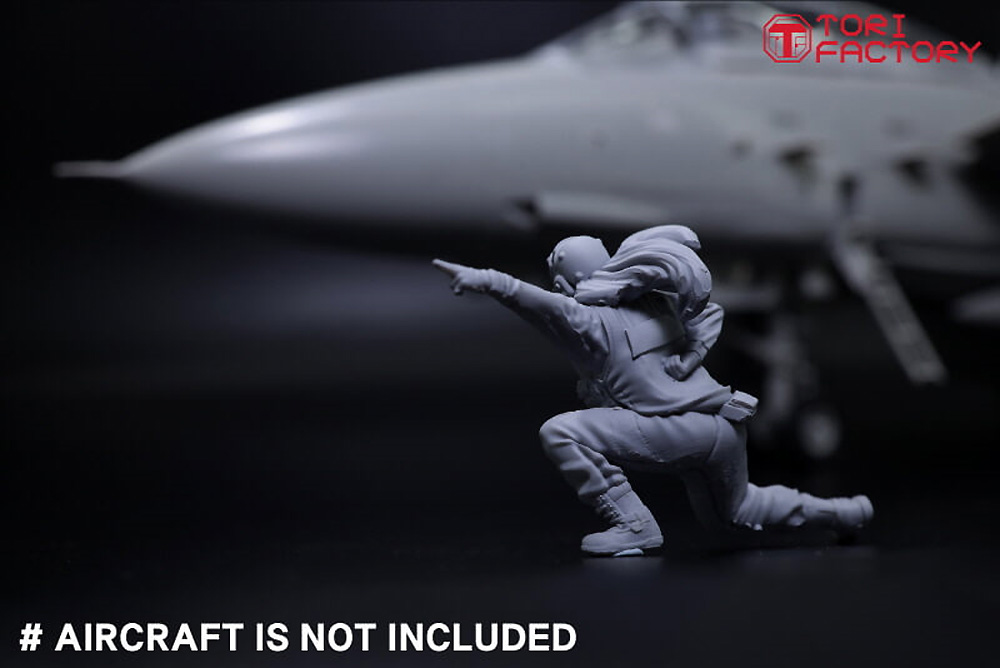 現用 アメリカ海軍 デッキクルー & パイロットプラモデル(トリファクトリーMILITARY FIGURE SERIESNo.MF-011B)商品画像_4