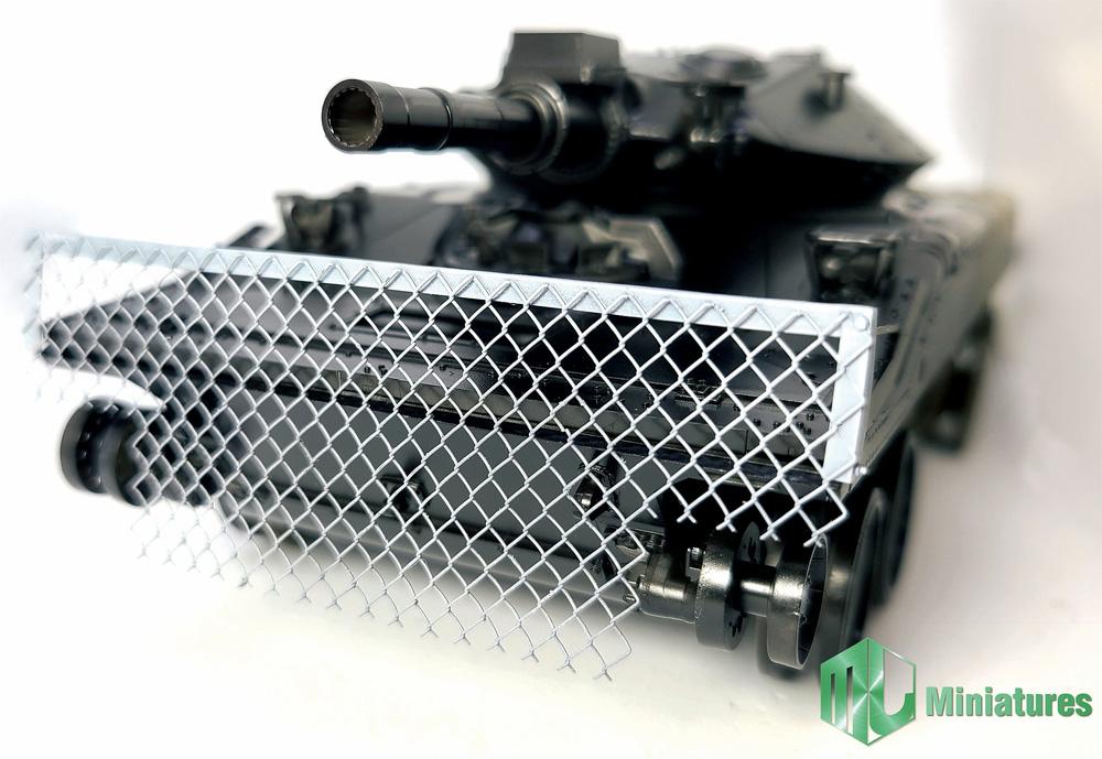 M551 シェリダン用 RPG対策 ワイヤーネットシールドプラモデル(MJ ミニチュア3Dプリンタ キットNo.MJEZ35007)商品画像_1