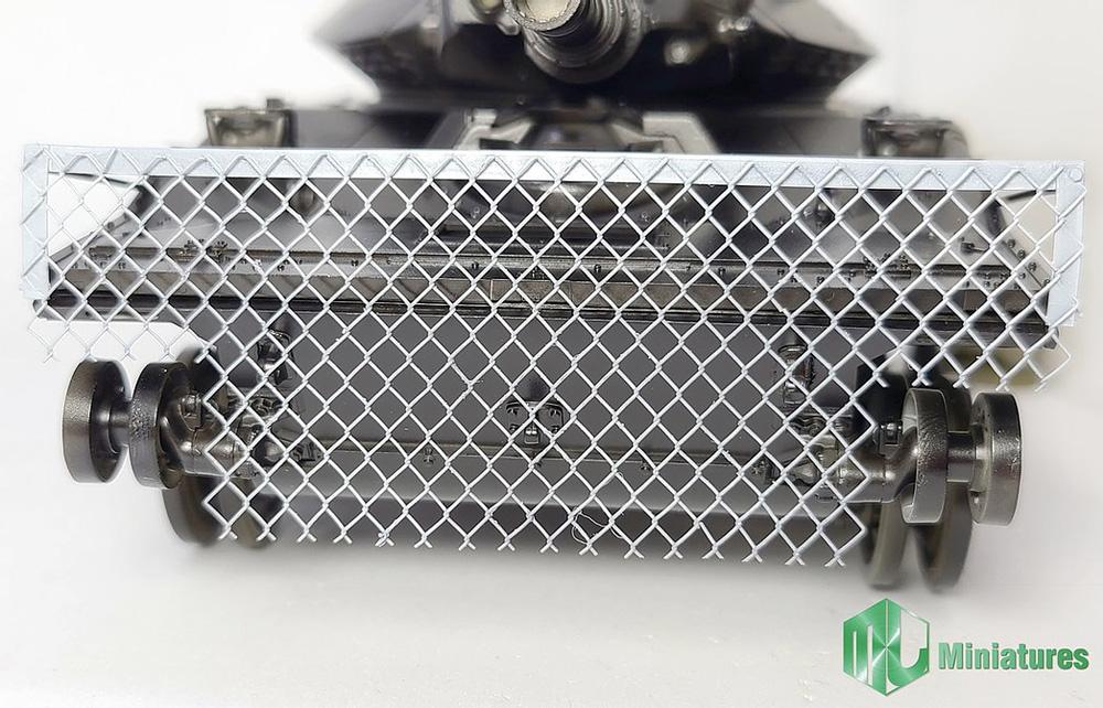 M551 シェリダン用 RPG対策 ワイヤーネットシールドプラモデル(MJ ミニチュア3Dプリンタ キットNo.MJEZ35007)商品画像_2
