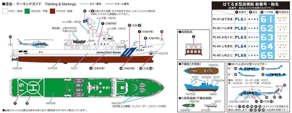 海上保安庁 はてるま型巡視船 PL-61 はてるまプラモデル(ピットロード1/700 スカイウェーブ J シリーズNo.J092)商品画像_1
