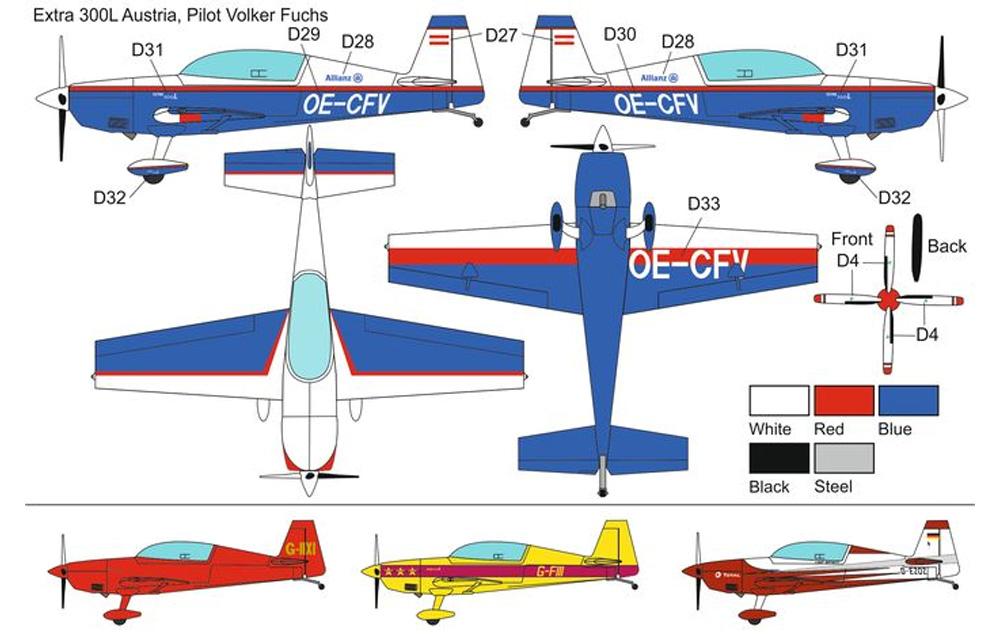 エクストラ EA-300L プロペラ4枚型プラモデル(ブレンガン1/72 Plastic kitsNo.BRP72043)商品画像_2