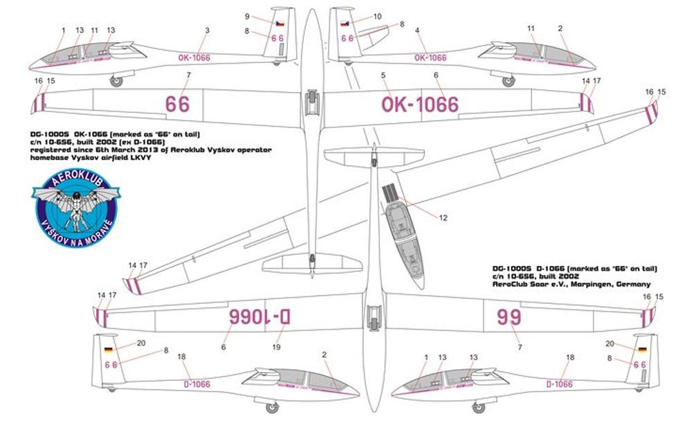 DG-1000S グライダー アクビープラモデル(ブレンガン1/48 プラスチックキット (Plastic Kits)No.BRP48006)商品画像_2