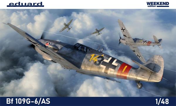 メッサーシュミット Bf109G-6/ASプラモデル(エデュアルド1/48 ウィークエンド エディションNo.84169)商品画像