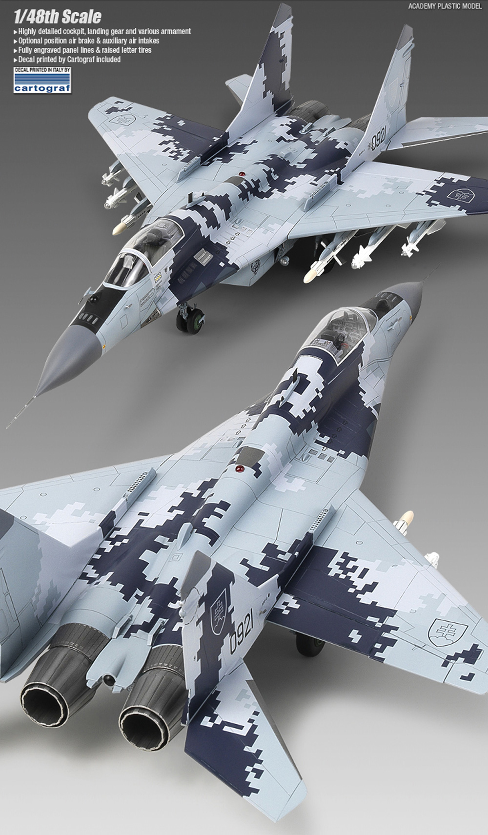 MiG-29AS スロヴァキア空軍 プラモデル (アカデミー 1/48 Aircrafts No.12227) 商品画像_2